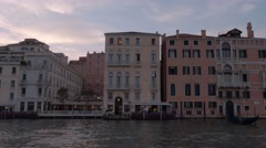 Beautiful riverside of Canale Grande - The Grand Canal in Venice Stock Footage