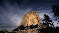 Devils Tower National Monument, WY Stock Footage