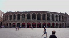 World famous Arena of Verona Stock Footage