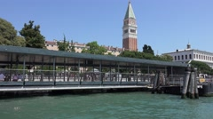 Modern San Marco pier at St. Mark´s Square in Venice Stock Footage