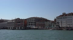 Famous Riva degli Schiavoni Walk in Venice Stock Footage