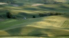 Rolling hills and farm land, Eastern Washington - stock footage