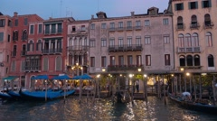 Wonderful Grand Canal in the evening - Canale Grande Stock Footage