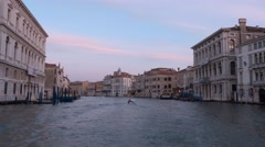 Beautiful Grand Canal in Venice - Canale Grande Stock Footage