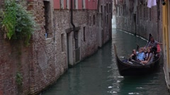 Romantic gondola in Venice - typical view in the canals Stock Footage