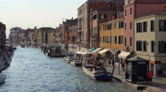 Beautiful Canale Grande - The Grand Canal in Venice Stock Footage