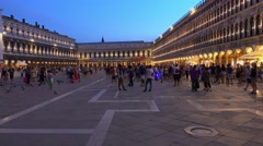 St Mark´s square in Venice - Piazza San Marco Italy Stock Footage