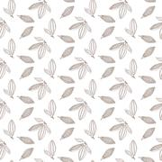 Cocoa beans outline seamless pattern. Chocolate white background Stock Illustration