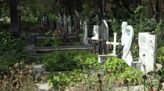 Ancient cemetery in Varna. Bulgaria. Stock Footage