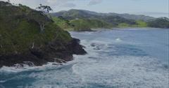 Aerial flying over whangaruru bay, northland, new zealand Stock Footage