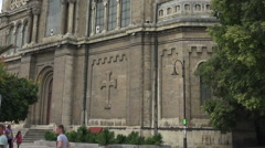 The Cathedral of the Assumption in Varna, Bulgaria. Stock Footage