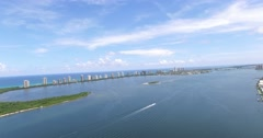 North Palm Beach CoastLine and Singer Island Crane Up Stock Footage
