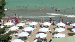 Golden Sands beach (Zlatni Piasci) in Bulgaria. Stock Footage