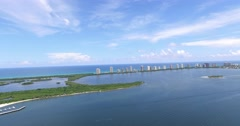 North Palm Beach CoastLine and Singer Island Dolly Stock Footage