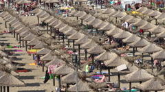 Golden Sands beach (Zlatni Piasci) in Bulgaria. Stock Footage