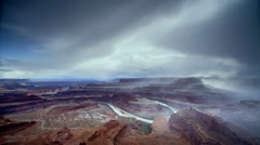 Clearing Storm at Canyonlands, NP, Utah - stock footage