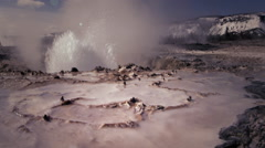 Small Geyser, Yellowstone NP, WY Stock Footage
