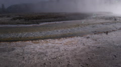 Thermal runoff and algae, Yellowstone NP Stock Footage