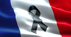 Pray for paris, nice, france, waving france country flag color background wit Stock Illustration
