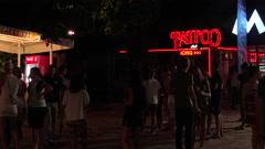 Nightlife in the Golden Sands resort. Varna. Bulgaria. Stock Footage