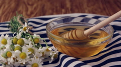 Extraction honey with a dipper, Honey is a source of health, Stock Footage