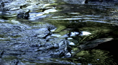 Water Patterns in river, Glacier NP, MT Stock Footage