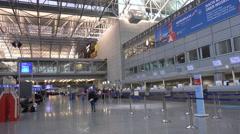 4k Terminal panning shot International Airport Frankfurt Main Stock Footage