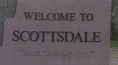 """Welcome to Scottsdale."" Arizona Stock Footage"