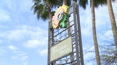 5th Avenue Shops Sign. Scottsdale, Arizona Stock Footage