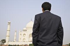 Indian businessman visiting the Taj Mahal Kuvituskuvat