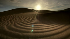 Sand dunes at dawn, death valley, NP, CA Stock Footage