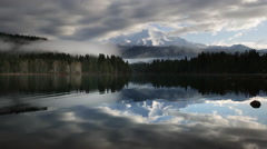 Mount Shasta reflected in Lake Siskiyou Stock Footage
