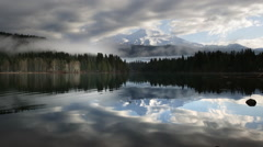 Mount Shasta reflected in Lake Siskiyou - stock footage