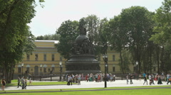 The monument Millennium of Russia in Russia Stock Footage