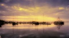 Marina with fishing boats, Eureka, CA Stock Footage