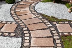 Garden design elements landscaping - stock photo