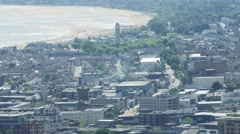Still overview of Swansea City Stock Footage