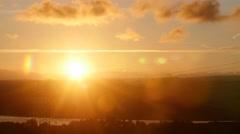 Pylon Sunset Timelapse fade to black Stock Footage