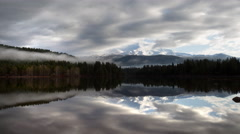Lake Siskiyou reflecting Mount Shasta, Ca Time Lapse Stock Footage