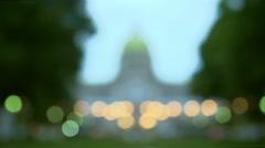 Harrisburg, Pennsylvania - State Capitol Building - Rack Focus - Dawn Stock Footage