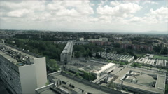 New Corviale. Aerial drone. Modern building by  Mario Fiorentino N. Stock Footage
