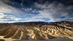 Zabriskie Point, Death Valley National Park, California, Time Lapse Stock Footage
