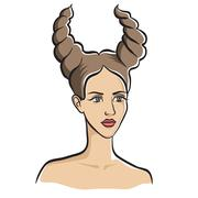 Taurus - astrological symbol Stock Illustration