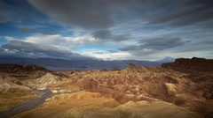 Zabriskie Point, Death Valley National Park, California, Time Lapse Stock Footage
