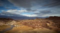 Zabriskie Point, Death Valley National Park, California, Time Lapse - stock footage