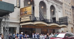 People Wait in Line for Tickets to the Popular Broadway Show Hamilton Stock Footage