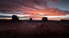 Monument Valley Navajo Tribal Park, Arizona Stock Footage