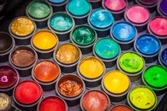Colorful paint tubes Stock Photos
