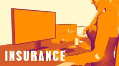 Insurance Concept Course Stock Illustration