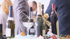 Coctail business luxury party handheld camera  Stock Footage